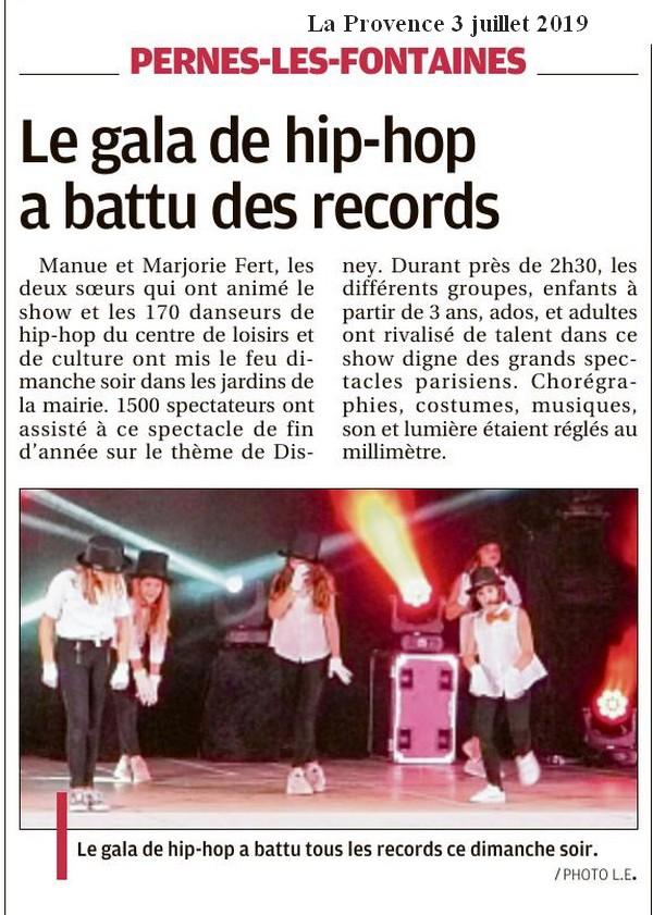 La Provence 3 juillet 2019 Le gala de Hip hop a battu des records