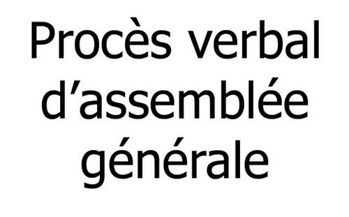 ASSEMBLÉE GÉNÉRALE 9 JANVIER 2021